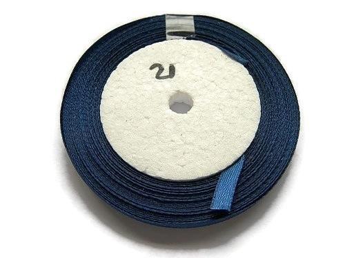 No.21 Donker Blauw Satijnlint 6mm (per rol)