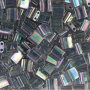 TL-2440D Miyuki TILA Dark Transparant Gray Rainbow Luster 5x5mm