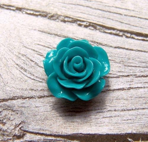 Resin Roosje turquoise 20x20mm