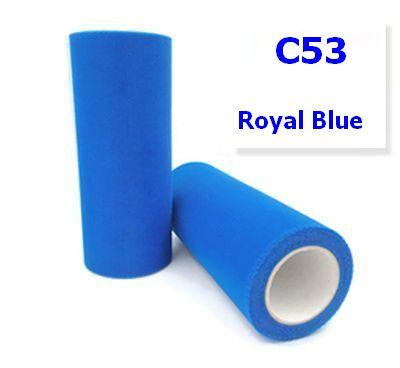 Tule  Royal Blue 15cm breed XXL rol 90 METER C53