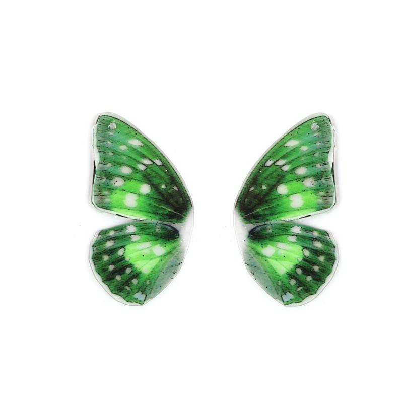 Resin Butterfly Wings Green (2st)
