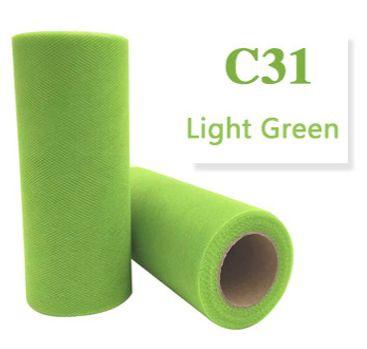 Tule Light Green 15cm breed  rol 22 meter C31