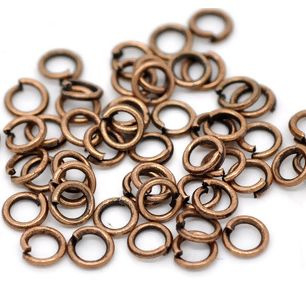 Jump ring Koper 6mm