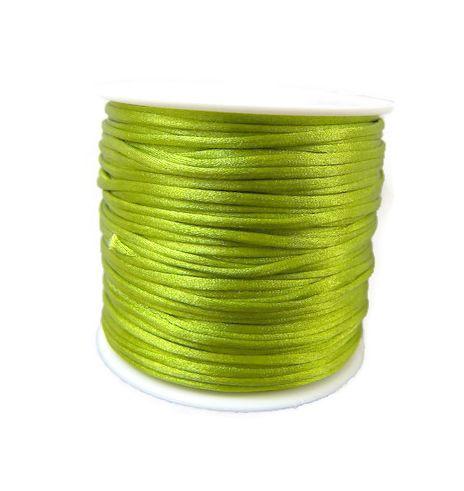 Voordeelverpakking rol van 15 meter Satijnkoord Olijf Groen 1,5mm