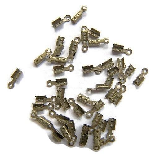 Veterklemmetje brons 7x2.5mm (10st)