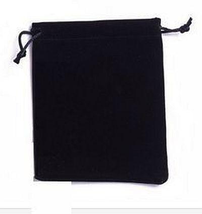 VOORDEELVERPAKKING 20 stuks Geschenkzakje van Velours  Zwart 15x12cm