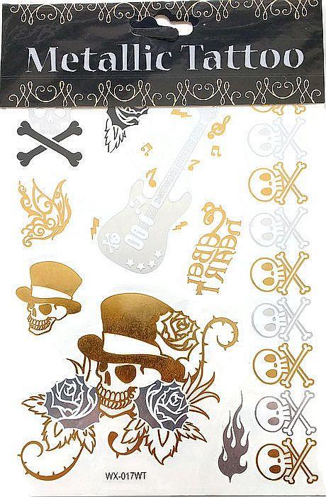 Metallic Tattoo's  WX017-WT