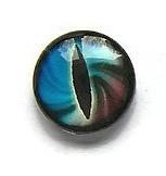 Dragon Eye 002, 18mm Glas Cabochon Rond