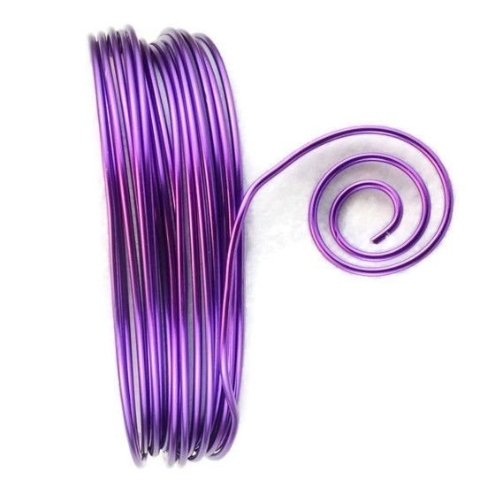 AluDeco Wire 2mm Lilac Round (5m)