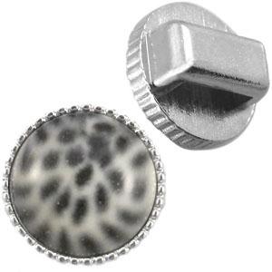 DQ metalen vintage slider zilver voor 12mm cabochon (8mm leer)