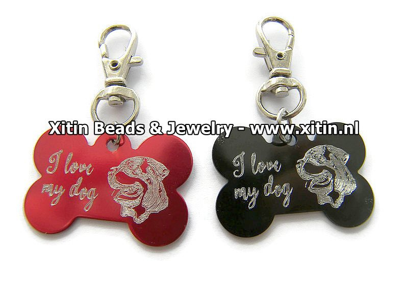 Sleutelhanger I love My Dog, Rottweiler