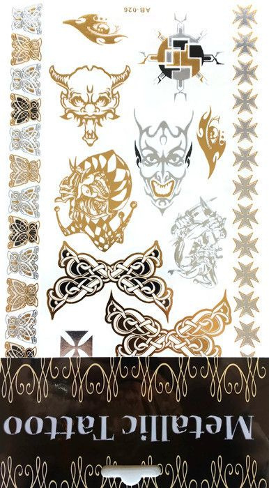 Metallic Tattoo's  AB-026