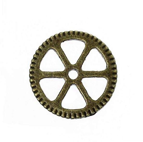 Bedel tandwiel steampunk brons 002