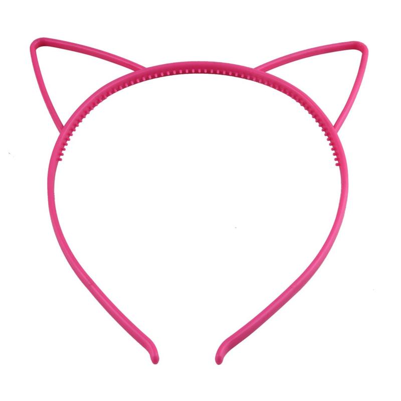 Haarbeugel Kattenoortjes Fuchsia Roze
