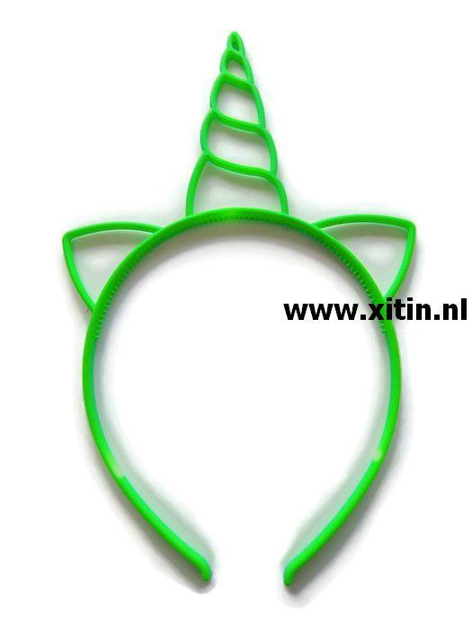 Haarbeugel Eenhoorn Neon Groen