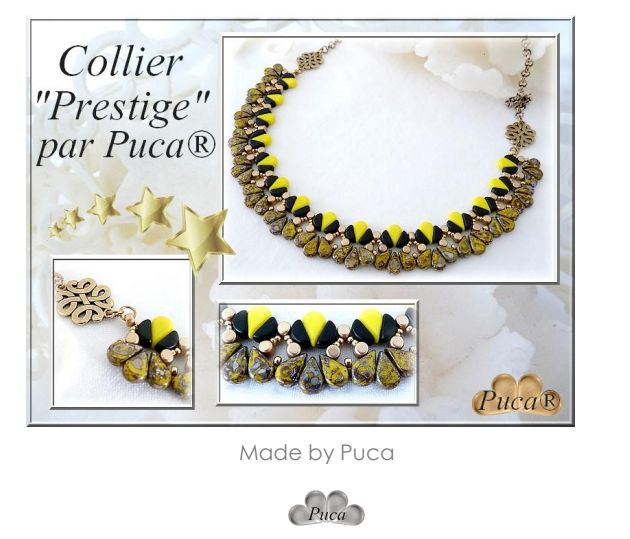 """Gratis """"Collier Prestige"""" Patroon bij aankoop van 2 zakjes PAR PUCA® kralen"""