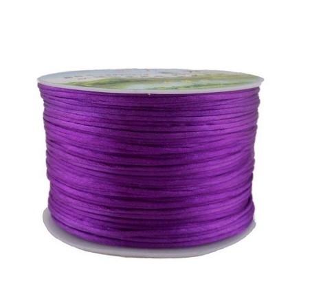Satijnkoord Prune Purple 1mm dik