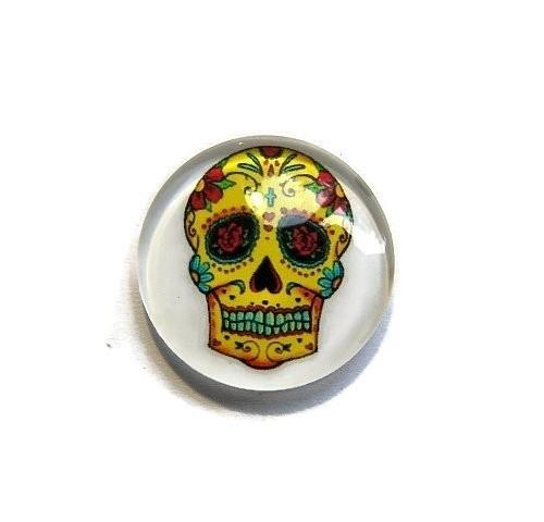 Sugar Skull 004 20mm Glas Cabochon Rond