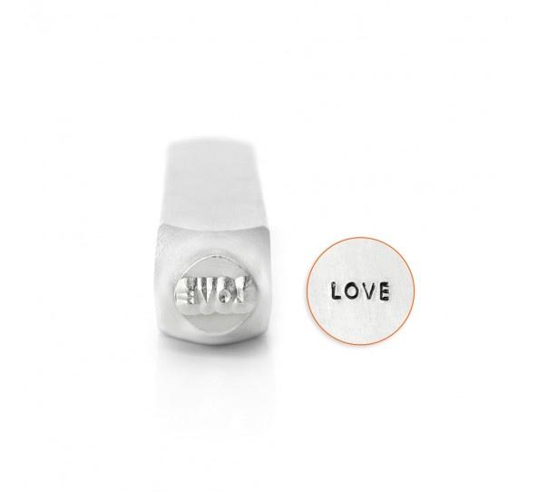 "Design stempel ""Love""  6mm ImpressArt"