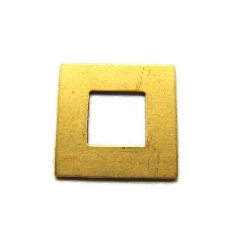 Tag Square Washer Messing