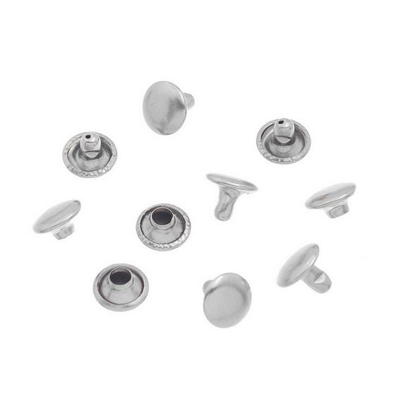 Rivet Studs rond 7mm Zilverkleur