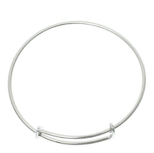 Bangle Vintage Silver Plated voor bedels