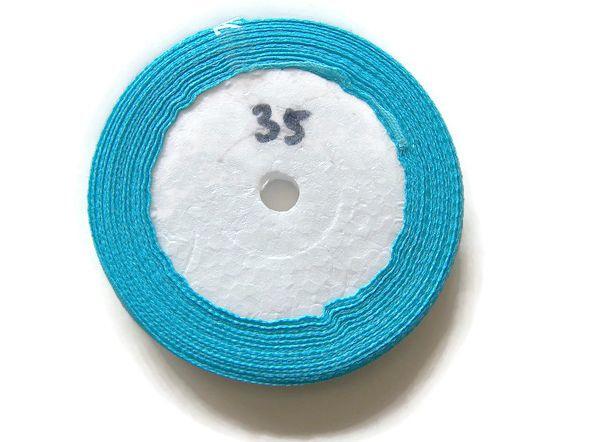 No.35 Aqua Blauw Satijnlint 6mm (per rol)