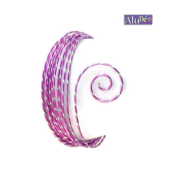 AluDeco Wire 2mm Lavendel Diamond Cut (5m)