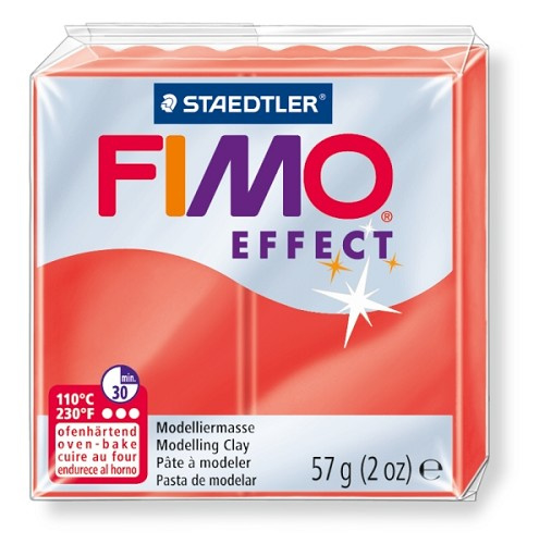 Fimo Effect  Transparant Rood No.204