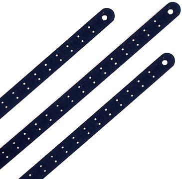 GROOTVERPAKKING 5 stuks Lederen Borduur Armband zwart 7mm smal