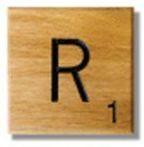 Houten Scrabble Letter R