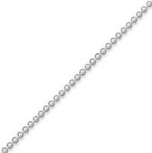 Ball chain ketting Silver Plated 2,4mm