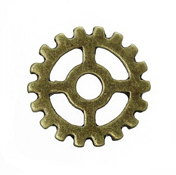Bedel tandwiel steampunk brons 001