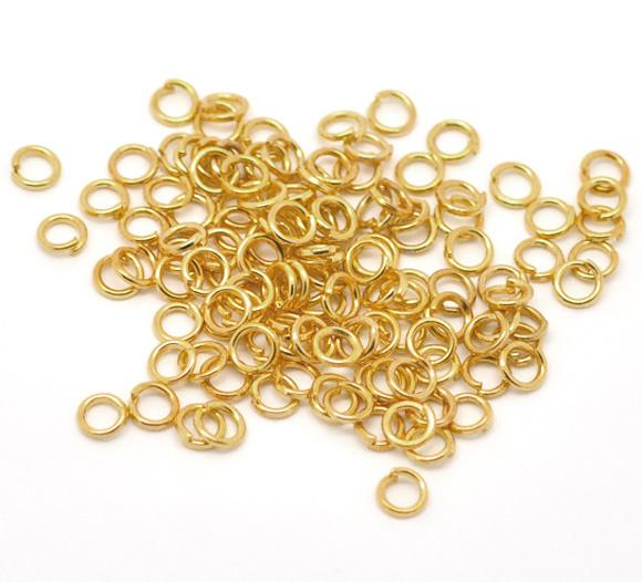 GROOTVERPAKKING 1000 stuks open Jump ring Gold Plated 6mm