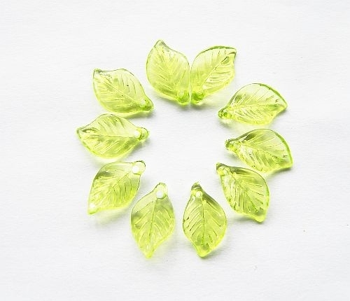 Acryl BlaadjesTransparant Groen