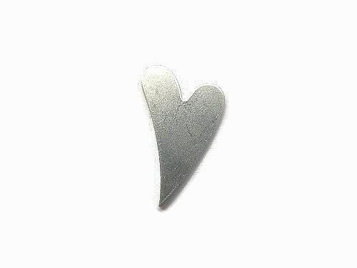 Tag Swirly Long Heart aluminium