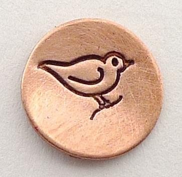 Design stempel Bird 6mm UB