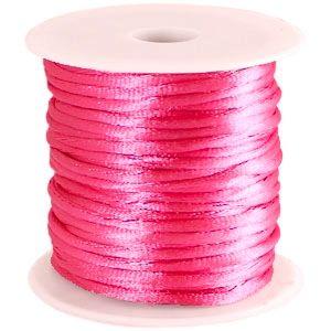 Satijnkoord Donker Roze 1mm dik