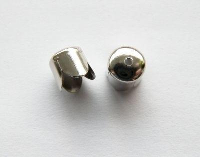 Eindkapje Silvertone  fits 8mm (10st)