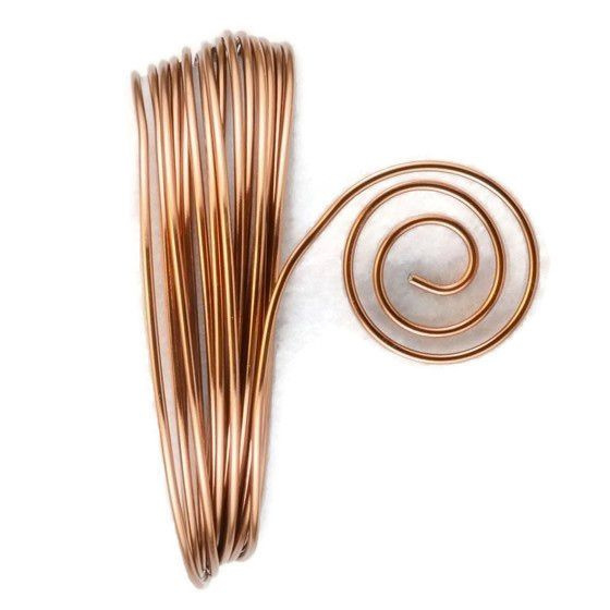 AluDeco Wire 2mm Brown Round (5m)