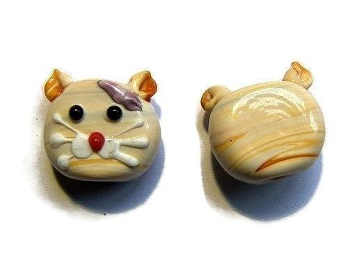 Lampwork Kraal Kattenkop
