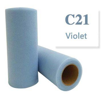 Tule  Violet 15cm breed XXL rol 90 METER C21