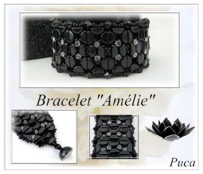 """Gratis """"Amelie Armband"""" Patroon bij aankoop van 2 zakjes PAR PUCA®, Swarovski of Mesh kralen"""