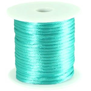 Satijnkoord Turquoise 1mm dik