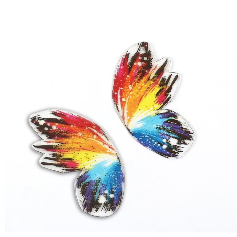 Resin Butterfly Wings Multicolor (2st)