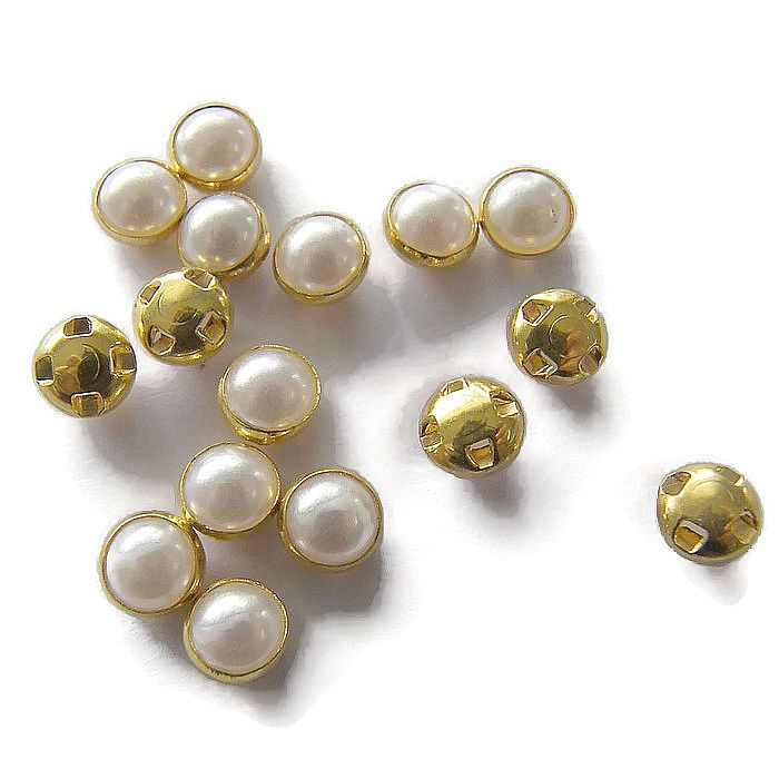 Mesh Pearl 6mm Gold Plated (10st.)