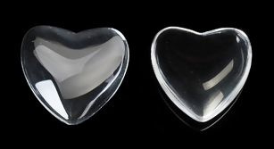 Glas cabochon Hart 16mm