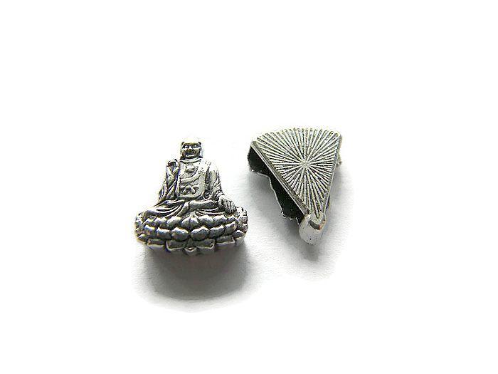 Schuif Kraal Buddha voor 10mm plat leer
