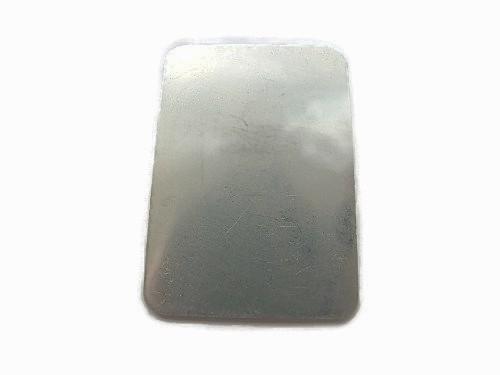 Rectangle tag aluminium plaatje 50x35mm