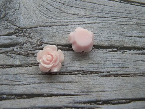 Resin Roosje Roze 14x6mm